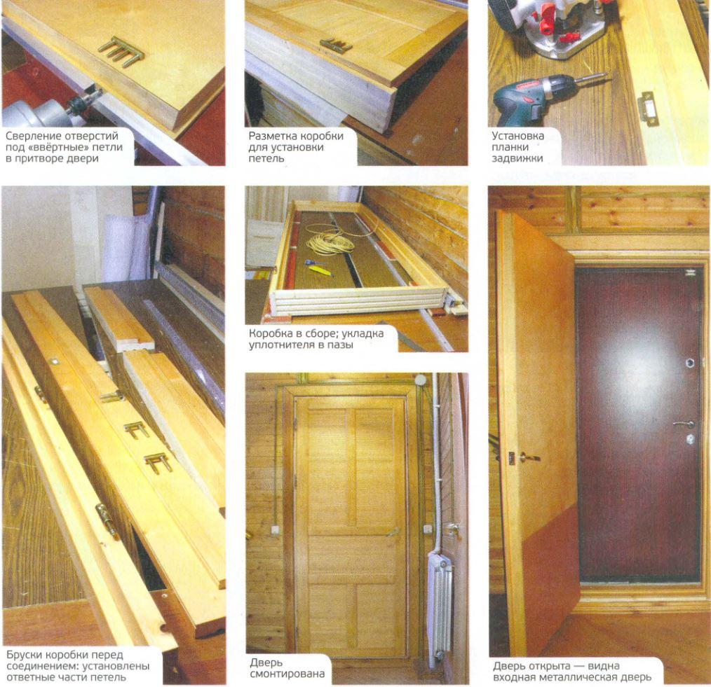 Как сделать дверь из фанеры утепленную